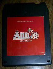 ANNIE - A NEW MUSICAL - ORIGINAL CAST RECORDING 8 Track Tape  Rare collectible!