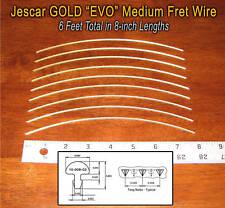 6 Feet Jescar GOLD EVO Medium/Medium Frets/Fret Wire for Guitars &More! 10-08-02