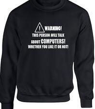 Computers PC Mens Sweatshirt - Funny Hobby Statement Programming Internet Hack