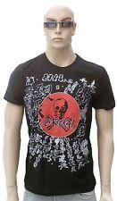 Cool Amplified LA ROCKA Strass Crystals Stones Rock Star Designer T-Shirt g.M.