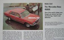 1976 Mercedes 450SE Original Motor Sport magazine Road test