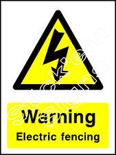 Avertissement électrique escrime-coun 0049 autocollants & signes