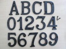 "3"" BLACK ANTIQUE CAST IRON HOUSE DOOR NUMBERS NUMERALS LETTERS"