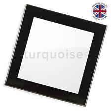 Premium Qualità foto in bianco vetro Bere Coaster Mats | NERO ARGENTO