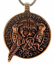 Nr. 131 Wikinger Odin Hugin Munin Rabe Bronze Anhänger Vogel Amulett