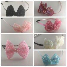 new baby girls bow Diamante Rhinestone slim Alice Hair Head band Accessories
