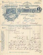 Rechnung deko 1894 SchokoladenFabrik Ortweiler BAYREUTH