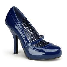 Scarpe Donna Decolte Decollete Vernice Blu Tacco Alto Pleaser Cutiepie-02