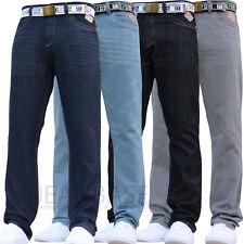 New Mens Kam Jeans Slim Fit Leg Denim Pants All Waist Legs Big Tall King Sizes