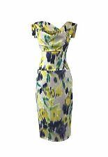 BLACK HALO Jackie O Hollywood Celebrity Green Solstice Print Dress 0 2 4 6 8 10