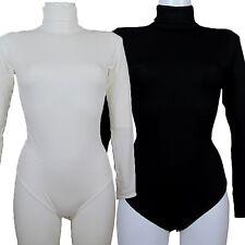 BODY donna RAGNO perfetta collo alto sotto giacca VISCOSA avorio nero