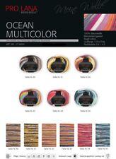 50g Pro Lana Lana Ocean multicolor farbverlauf-sommergarn Egipcio Algodón