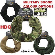 ARMY SCARF KOMBAT UK SNOOD Balaclava Mask Scrim Veil BTP/MTP GREEN BLACK TAN