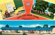 WATERLOO NY CAPE COD MOTEL COURT VIEWS CHROME P/C