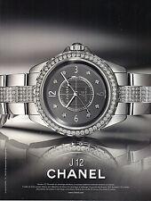 PUBLICITE  ADVERTISING 2012     CHANEL  montre                            201112