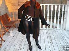 Schiaparelli black Karakul lamb& Mink Fur Coat Jacket M