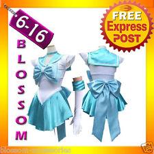 G35 Sailor Moon Mercury Costume Cosplay Uniform Fancy Dress Sailormercury Gloves