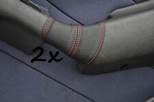 CUCITURE ROSSE ADATTO A FIAT MAREA 96-2002 2 X CUOIO PORTA MANIGLIA copre