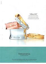 PUBLICITE ADVERTISING 2012 TIFFANY & CO 175 ans de légende bracelets