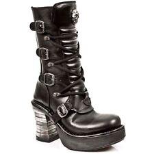 New Rock Boots Donna Punk Gothic Stivali - Style 8373 S1 Nero