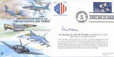 CC32 USAF FDC Firmado aire Mariscal Nicholls DFC Corea Piloto