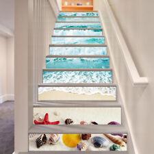 3D Sea Shell 7 Stair Risers Decoration Photo Mural Vinyl Decal Wallpaper CA
