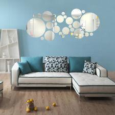 27 pièces DIY 3D Miroir acrylique décalcomanie Art Mural Autocollant Mural