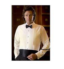 Toddler / Boys Ivory Pleated Tuxedo Shirt Lay down Cheap Costume Sale TUXXMAN