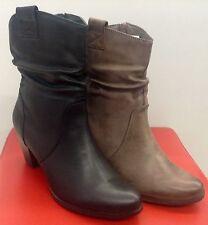 Damen Herbst/Winter Schuhe Stiefel Stiefeletten Ankle Boots mit Reißverschluss