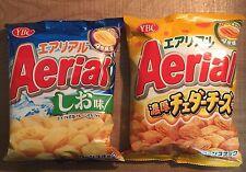 "NABISCO ""Aerial 3 Flavors"" Salt, Cheddar cheese, Tarako Butter, Corn Snack,Japan"