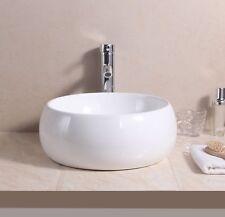 Round Bowl Ceramic Counter Top Basin Sink/Bottle Trap/Pop up Waste/Tap Bathroom