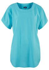 Buffalo Femmes Tunique Blouse Haut à Manches Courtes Polyester Turquoise 476254