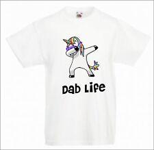 unicorn and others dabbing dab life childs t-shirt dance hip hop fun t-shirt