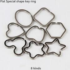 Flat Key Rings Split Keyring Star Flower Apple Heart Mouse Shape  5PCS TO 100PCS
