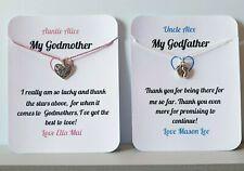 PERSONALISED Thank You Godmother, Godfather, Godparents Card, Keepsake,Gift