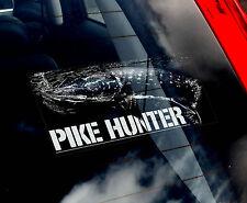 PESCA DEL LUCCIO Hunter-Finestra Auto Adesivo-Pescatore-NON. Carpa/FLY/Trota/Salmone