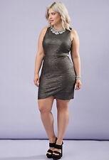 Forever 21 Plus SIze Plus Metallic Cutout Bodycon Dress  XL/2X