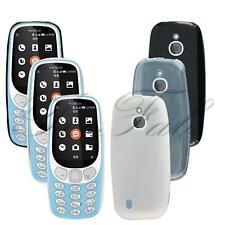 Para Nokia 3310 3G 4G nuevo genuino negro transparente TPU Gel teléfono caso cubierta de goma
