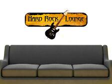 Wandsticker Wandtattoo Wandaufkleber Musik Hard Rock Lounge Gitarre Music