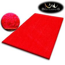 pas cher doux Tapis POILU 5cm Rouge Haute Qualité NICE en Touche Tapis beaucoup