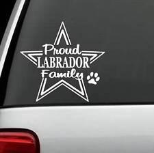PROUD LABRADOR RETRIEVER FAMILY DECAL STICKER CAR TRUCK SUV VAN PUPPY SALT ART
