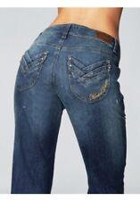 Madoc jeans Nuovo gr.34-44 donna dritto pantaloni blu usato elasticizzato pietra