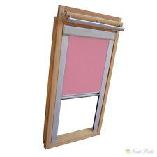 Verdunkelungsrollo mit Schienen für Velux-Dachfenster GGU/GPU/GHU/ in  rosa