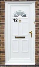 "2x  Self Adhesive Weatherproof house door numbers Vinyl Stickers  4"" ( gold"