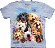 La MONTAGNA UNISEX ADULTO cani Selfie Animale UMORISMO T Shirt
