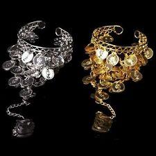 Belly Dance Sklaven Armband mit Ring Armreif Bauchtanz Münzen Sklavenarmband NEU