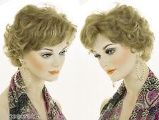 Premium Short Human Hair Blonde Red Wavy Monofilament Wigs