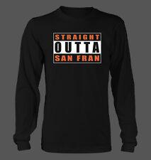 Straight Outta San Fran Men's Hanes Long Sleeve T-Shirt - San Francisco Giants