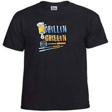Chillin & Grillin Grilling Beer Drinking Summer Grill T-Shirt