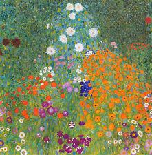 Gustav Klimt - Bauerngarten Vintage Fine Art Print
